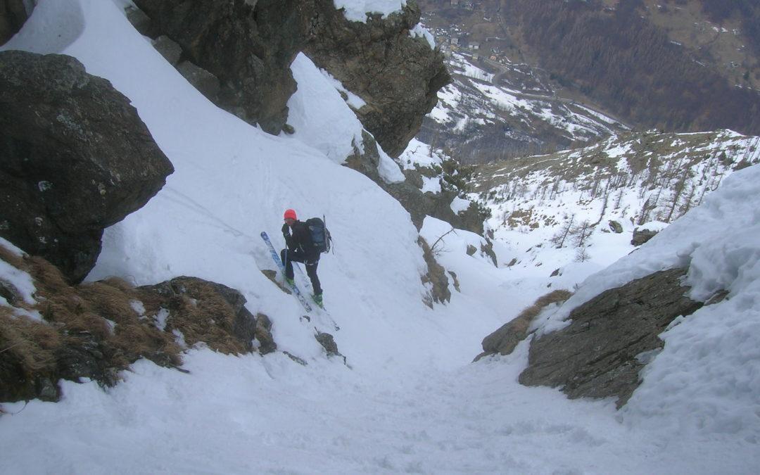 Il Monte Rosso d'Ala, una prima in sci