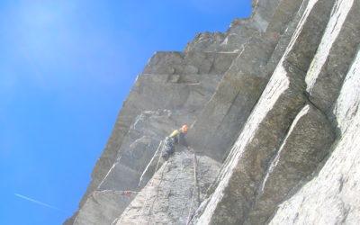"""La """"Via del tetto a sette"""" sulla Punta Corrà, 3300m"""
